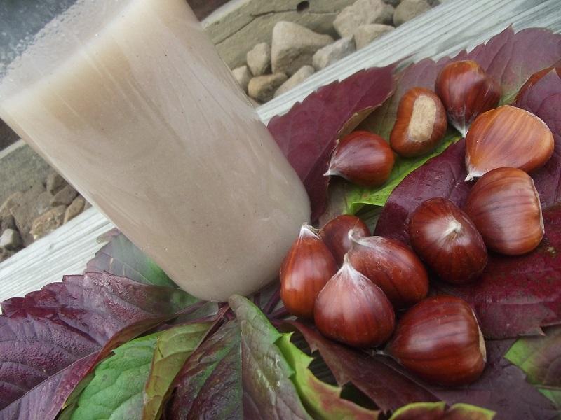 Douceur de la châtaigne dans un lait végétal fait maison