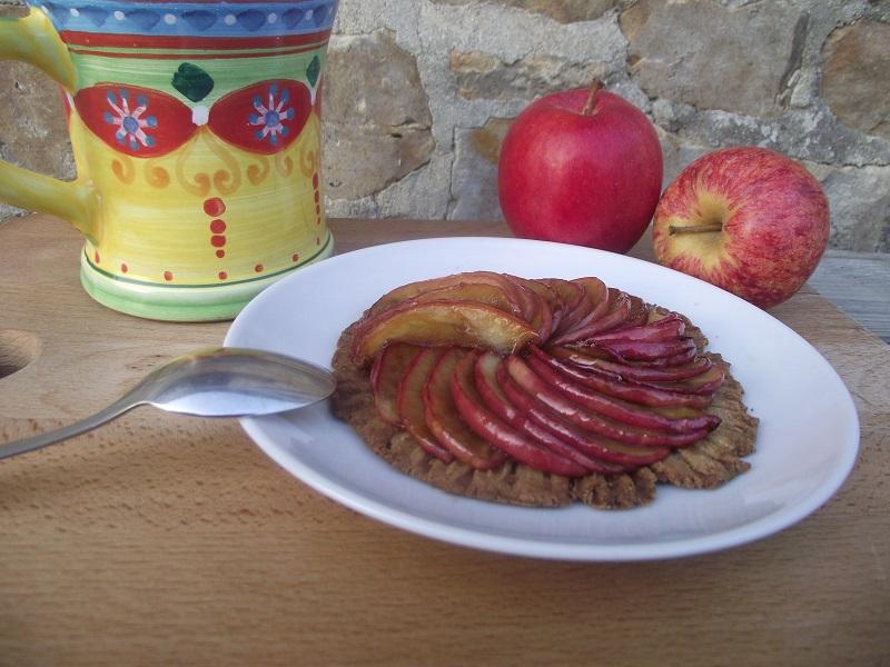 Tarte aux pommes sans gluten sans lactose sans sucre de canne