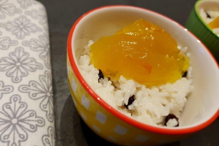dessert rapide riz au lait de coco