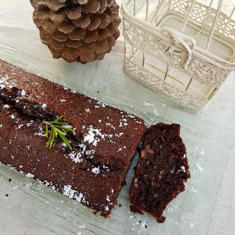 gâteau chocolat sans gluten romarin huile d'olive
