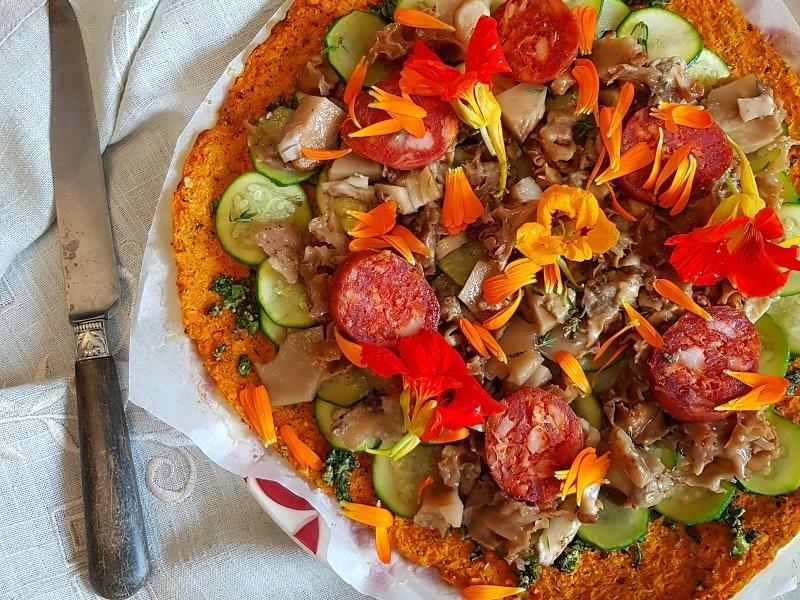 Recette pâte à pizza à la carotte sans gluten