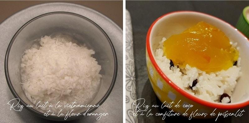 riz au lait à la vietnamienne et riz au lait de coco à la confiture de fleurs de pissenlit ma cuisine a du sens sans gluten sans lactose