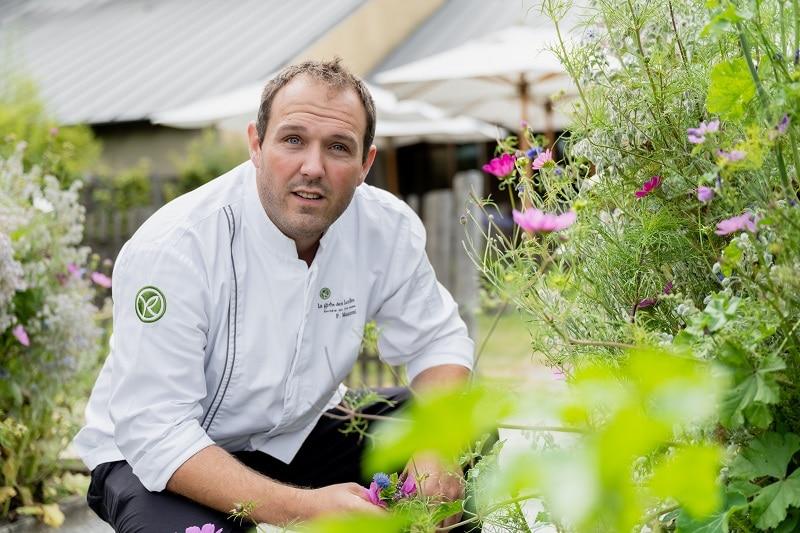 Fabien Manzoni chef restaurant Les Jardins sauvages La Grée des Landes Yves Rocher