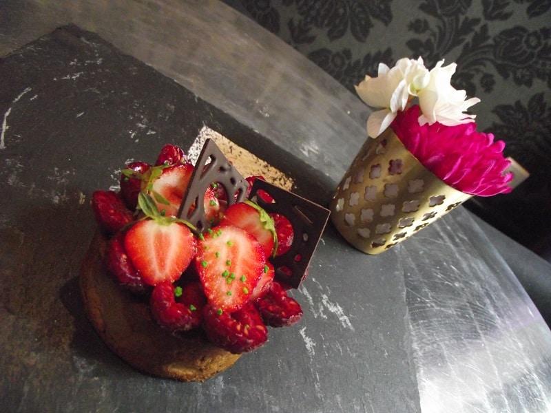 Tarte aux fraises sans gluten sans lactose sans sucre de canne pour la fête des mères