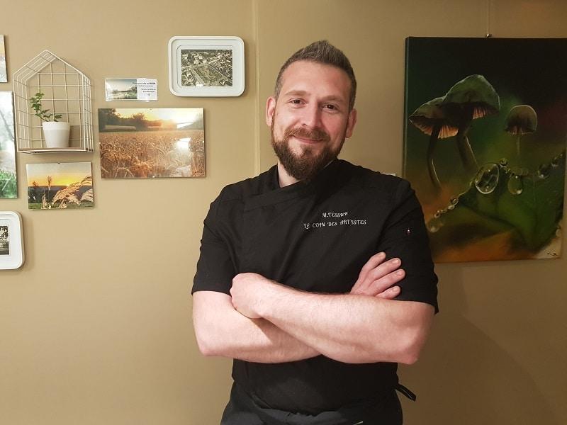 Michel, chef du restaurant le coin des artistes à la Gacilly